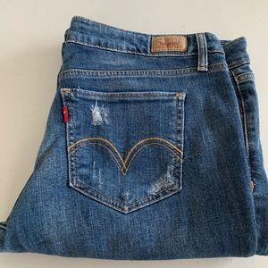 Levi's Super Low Destroyed Jeans